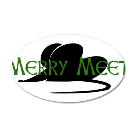 Merry Meet Spirit Rat 38.5 x 24.5 Oval Wall Peel