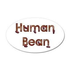 Human Bean 22x14 Oval Wall Peel