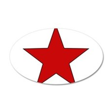 Red Star 22x14 Oval Wall Peel