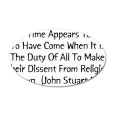 John Stuart Mill Religion Quo 22x14 Oval Wall Peel