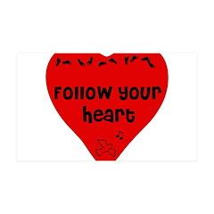 Heart Follower 38.5 x 24.5 Wall Peel