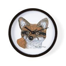 Fox Portrait Design Wall Clock