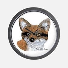 Fox Portrait Design Wall Clock