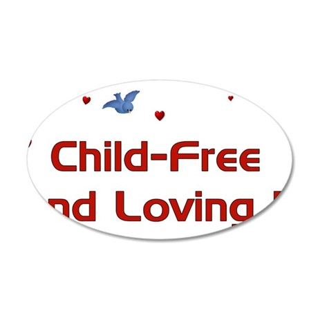 Child Free 38.5 x 24.5 Oval Wall Peel