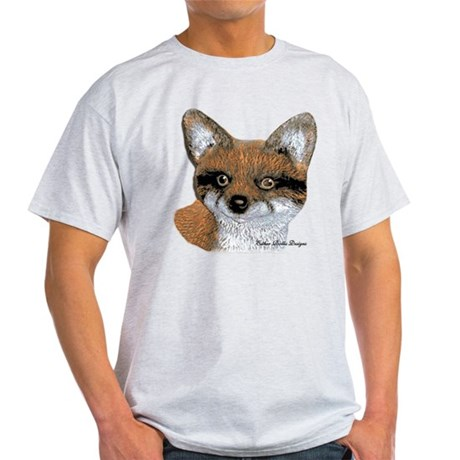 Fox Portrait Design Light T-Shirt