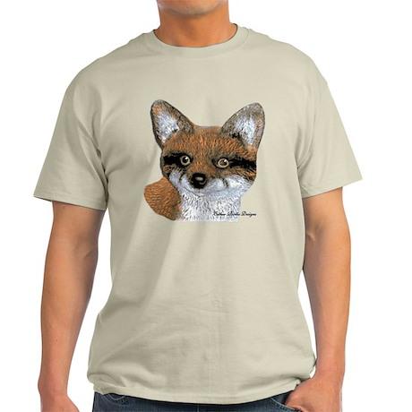 Fox Portrait Design Light T-Shirt
