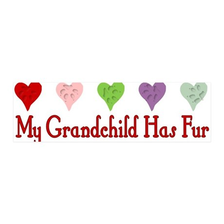 Furry Grandchild 21x7 Wall Peel