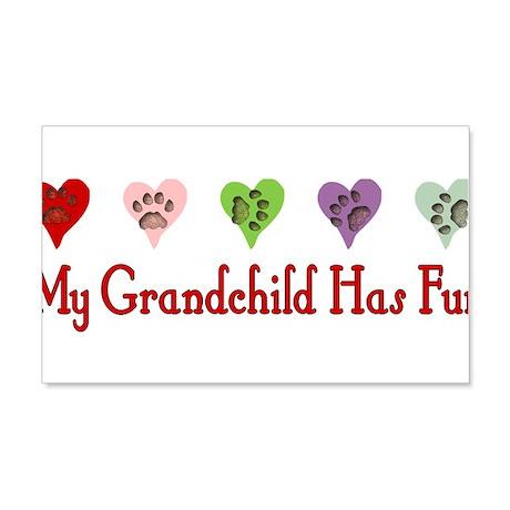Furry Grandchild 22x14 Wall Peel