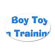 Boy Toy In Training 22x14 Oval Wall Peel