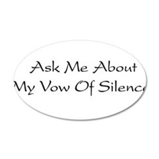 Vow Of Silence 38.5 x 24.5 Oval Wall Peel