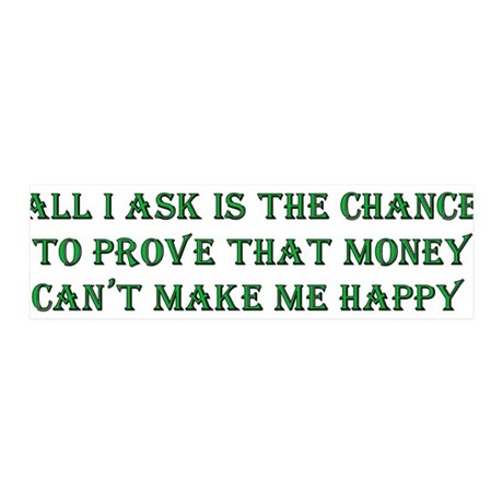 Money and Happiness 21x7 Wall Peel