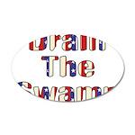 Drain The Swamp 38.5 x 24.5 Oval Wall Peel
