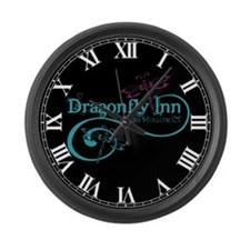 Dragonfly Inn Large Wall Clock