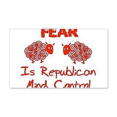 Fear Politics 22x14 Wall Peel