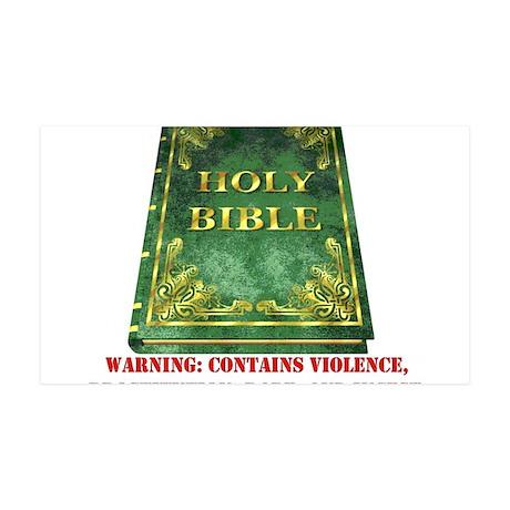 Bible Sex Violence Warning 38.5 x 24.5 Wall Peel