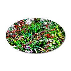 Garden Fantasy 22x14 Oval Wall Peel