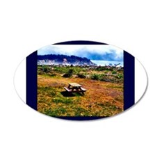 Picnic At The Beach 22x14 Oval Wall Peel