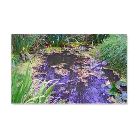 Pacific Northwest Lily Pond 22x14 Wall Peel