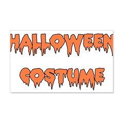 Halloween Costume 22x14 Wall Peel