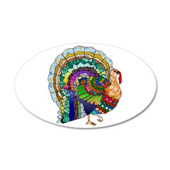 Patchwork Thanksgiving Turkey Wall Decal