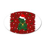Christmas Bear 38.5 x 24.5 Oval Wall Peel