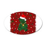Christmas Bear 22x14 Oval Wall Peel