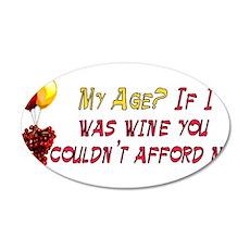 Fine Wine 22x14 Oval Wall Peel