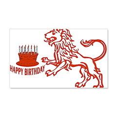 July August Leo Birthday 22x14 Wall Peel