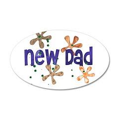 New Daddy 38.5 x 24.5 Oval Wall Peel