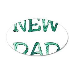 New Dad 22x14 Oval Wall Peel