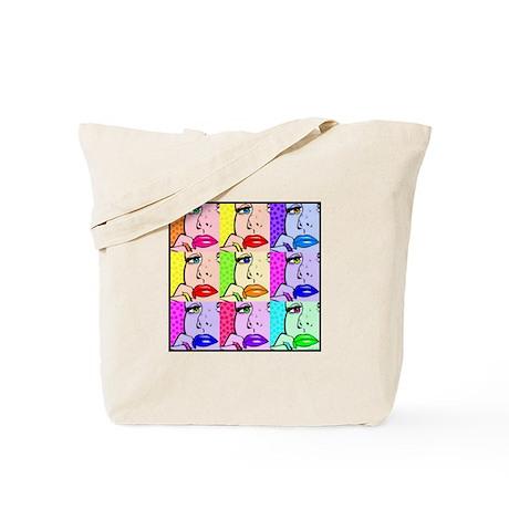 Comic Thinking Girl Tote Bag