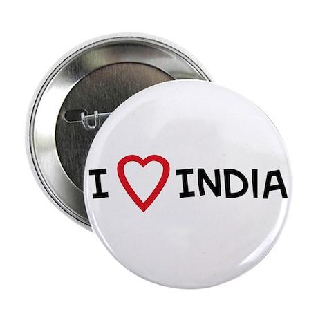 I Love India Button