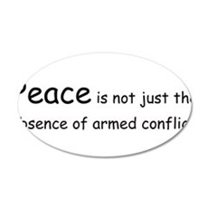 Peace Conflict 22x14 Oval Wall Peel