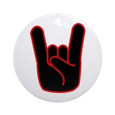 Heavy Metal Horns Ornament (Round)