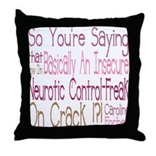 Vampire Control Freak Throw Pillow
