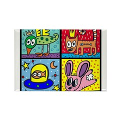 4 Minipops Rectangle Magnet