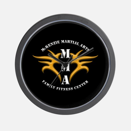 MMA Logo 2 - Gold White - Wall Clock