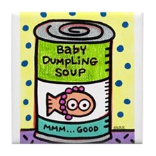 Baby Dumpling Soup Can Tile Coaster