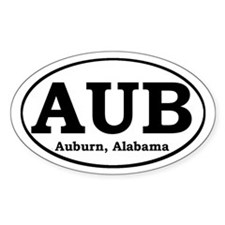 Auburn Alabama Oval Decal