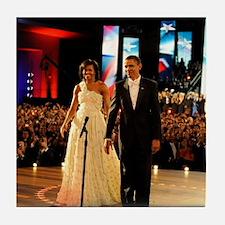 Barack Obama Inauguration Tile Coaster