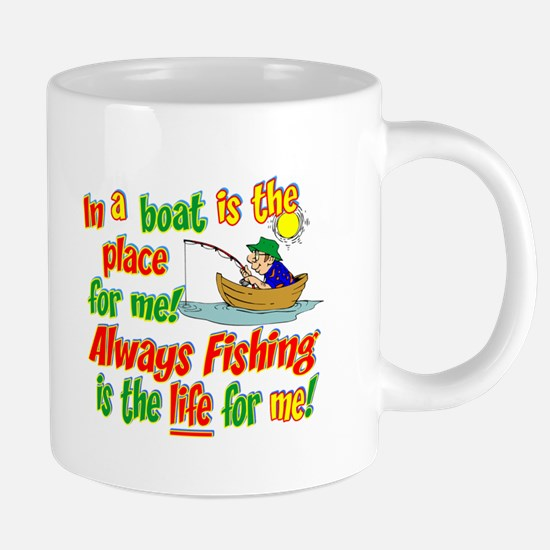 always fishing.png 20 oz Ceramic Mega Mug