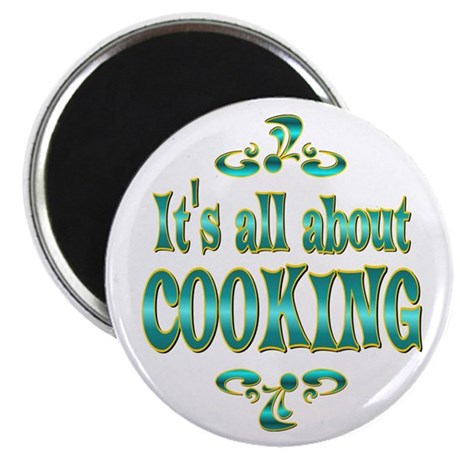 "About Cooking 2.25"" Magnet (100 pack)"