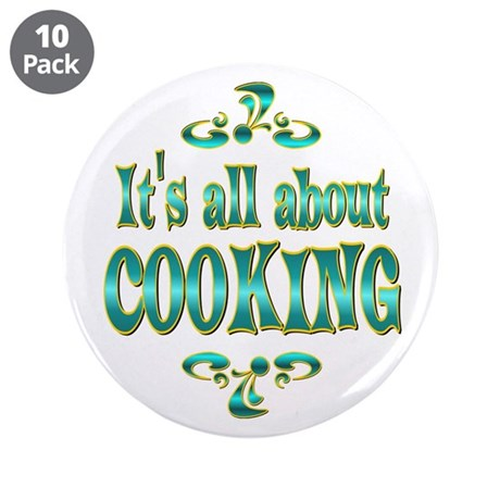 """About Cooking 3.5"""" Button (10 pack)"""