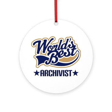 Archivist Ornament (Round)