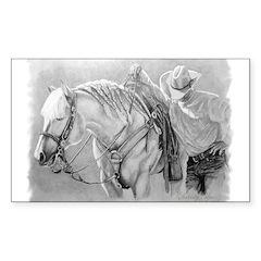 Palomino and Cowboy Decal