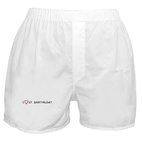 I Love St. Barthelemy Boxer Shorts