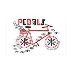 Pedals Cyclist 38.5 x 24.5 Wall Peel