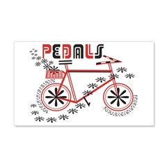 Pedals Cyclist 22x14 Wall Peel