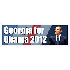 Georgia for Obama 2012 bumper sticker