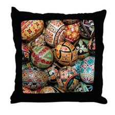 Pysanky Group 3 Throw Pillow